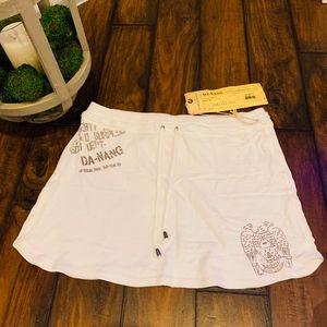 **NWT**Da-Nang 100% Cotton White Skirt